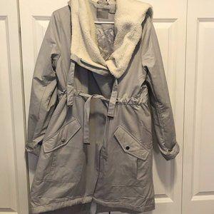 ASOS Maternity Wrap/Zip Hooded Jacket Sz 10